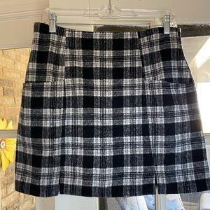 MINKPINK black and white plaid miniskirt